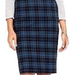Merona Plaid Pencil Skirt 16P Pockets, Lined, EUC!